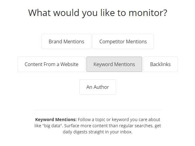 content monitoring on buzzsumo
