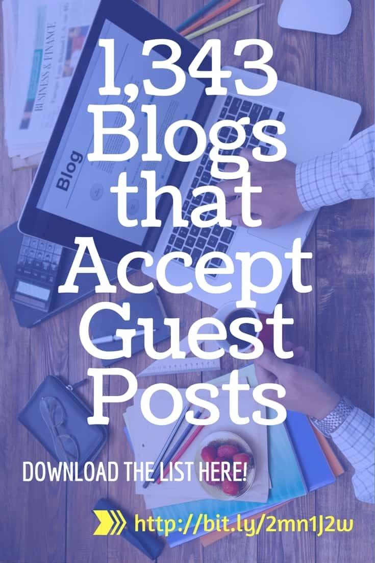 blogs that accept guest posts pinterest