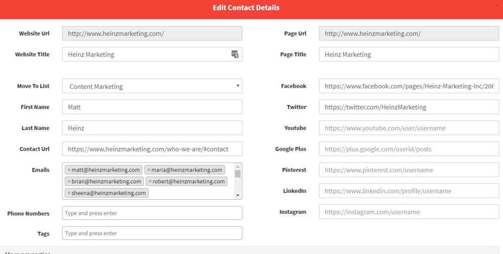 edit contact details