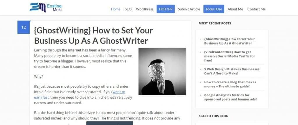 How to make money blogging Enstine Muki